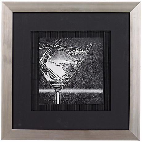 "Martini Splash I 16 1/2"" Square Wall Art"
