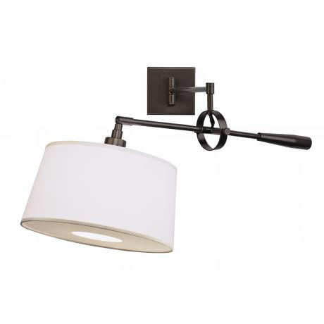 Real Simple Dark Bronze Boom Plug-In Swing Arm Wall Light