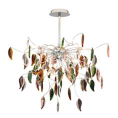 "Possini Euro Vibrant Leaves of Light 29"" Wide Chandelier"