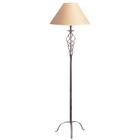 Desert Wrought Iron  Floor Lamp