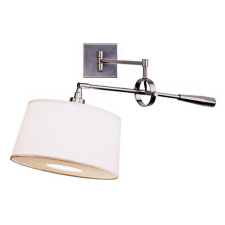 Real Simple Gun Metal Boom Plug-In Swing Arm Wall Light