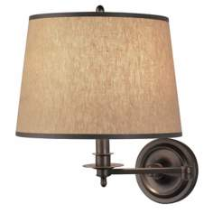 Winston Collection Dark Brass Plug-In Wall Lamp