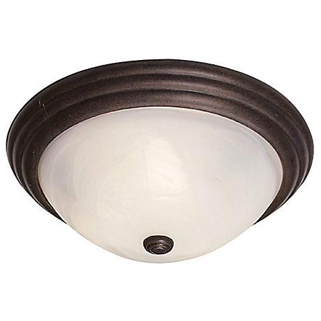 "Bronze Ring 11"" Wide Ceiling Light Fixture"