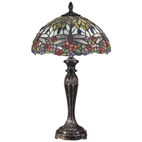 Dale Tiffany Fieldstone Art Glass Table Lamp