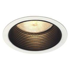 "Lightolier 5"" Line Voltage Black Step Recessed Light Trim"
