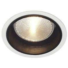 "Lightolier 5"" Line Voltage Black Baffle Recessed Light Trim"