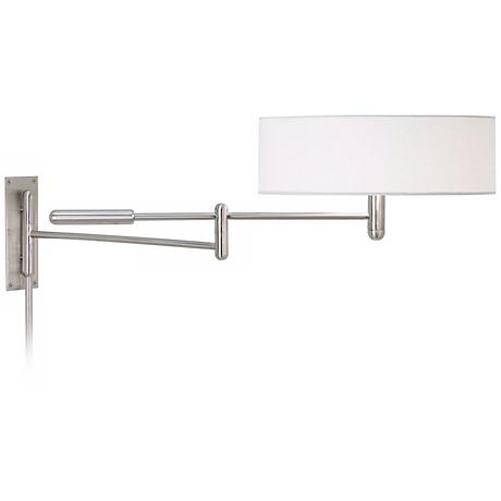 Sonneman Perno Satin Nickel Plug-In Swing Arm Wall Lamp
