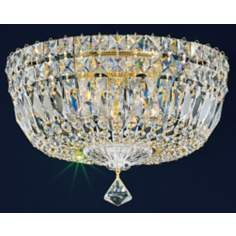 "Schonbek Empire Petite Crystal 12"" Wide Ceiling Light"