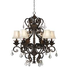 "Kathy Ireland Ramas de Luces Bronze 30"" Wide Chandelier"