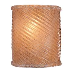 Striped Amber Piastra Glass ADA Compliant Wall Sconce