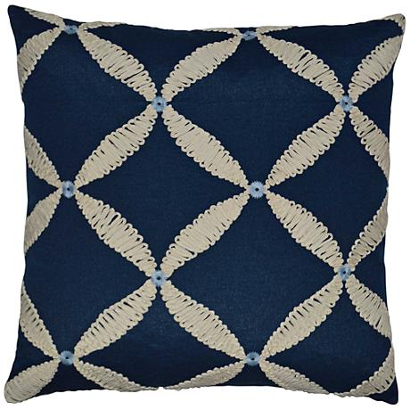 "Windward Blue 24"" Square Decorative Throw Pillow"
