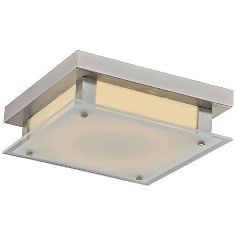 "Avenue Cermack St. 9 1/2""W Brushed Nickel LED Ceiling Light"