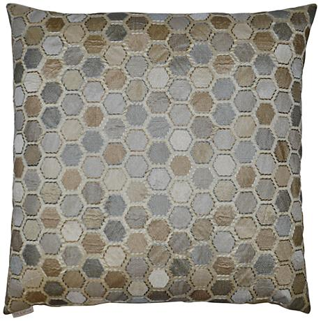 "Gem Market Alabaster 24"" Square Decorative Throw Pillow"