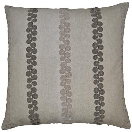 "Whitefield Linen 24"" Square Decorative Throw Pillow"