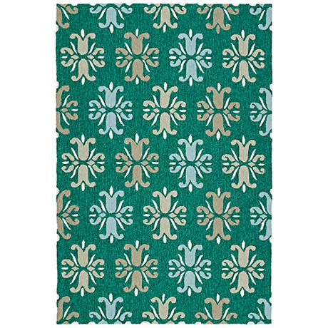 Kaleen Escape ESC07-81 Emerald Outdoor Area Rug