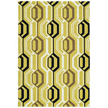 Kaleen Escape ESC08-05 Gold Outdoor Area Rug