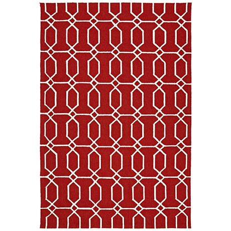 Kaleen Escape ESC10-25 Red Outdoor Area Rug