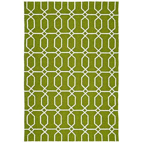 Kaleen Escape ESC10-50 Green Outdoor Area Rug