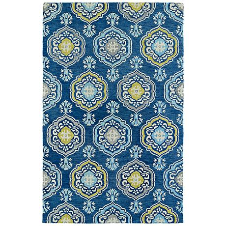 Kaleen Helena 3211-17 Blue Wool Area Rug