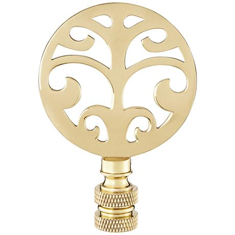 Polished Brass Tree Lamp Shade Finial