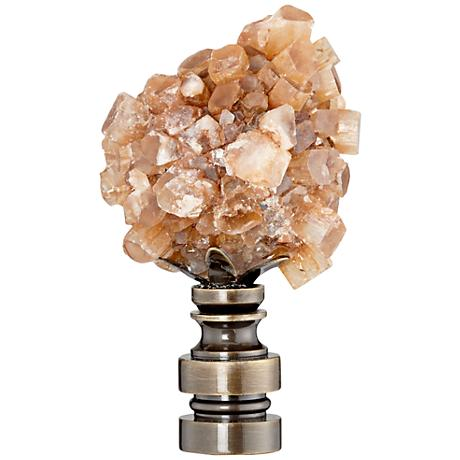 Aragonite Mineral Lamp Shade Finial