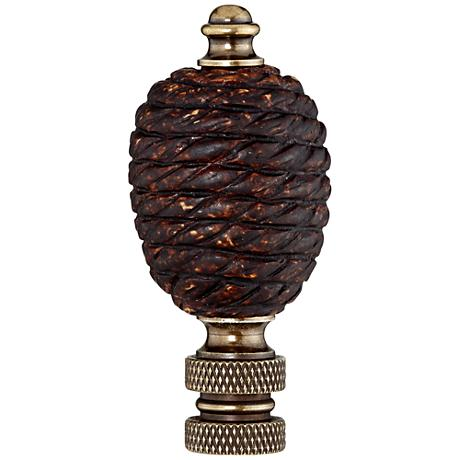 Coiled Rope Lamp Shade Finial