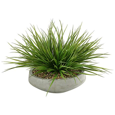 "Wild Grass 24""W Faux Plant in Contemporary Bowl"
