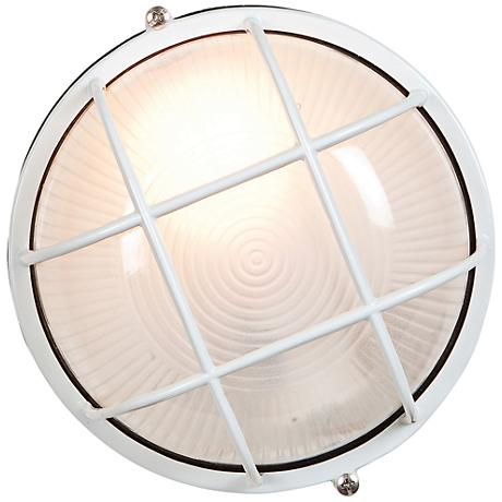 "Nauticus 7"" High White LED Outdoor Wall Light"