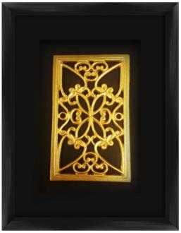 "Gold Leafed Medallion 17 1/2"" High Framed Wall Art (12N64) 12N64"
