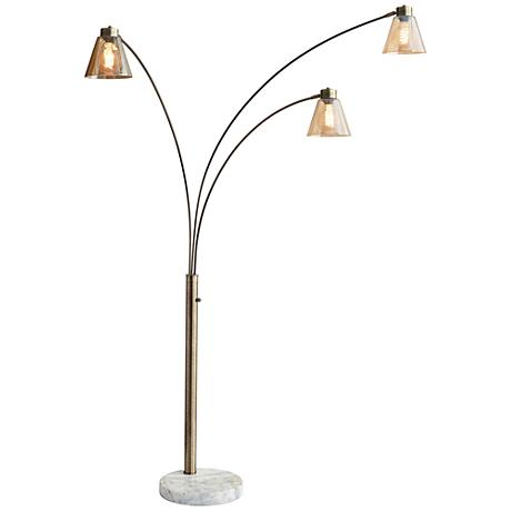 Wyatt Ii Dark Bronze Arc Floor Lamp 1f209 Www