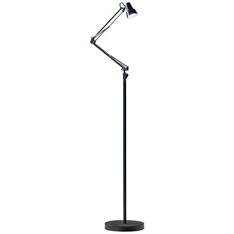 Quest Black Adjustable LED Floor Lamp