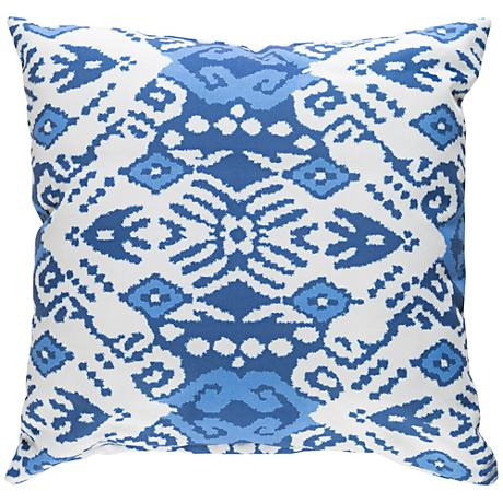"Surya Phoebe Blue and White 18"" Square Decorative Pillow"
