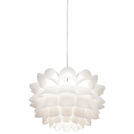 Possini Euro White Flower 19 1 2 Wide Pendant Chandelier