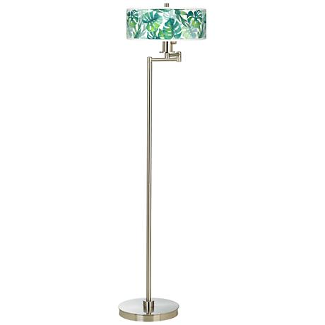 Tropica Giclee Energy Efficient Swing Arm Floor Lamp