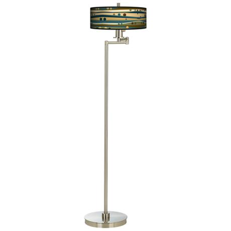 Dots & Waves Energy Efficient Swing Arm Floor Lamp