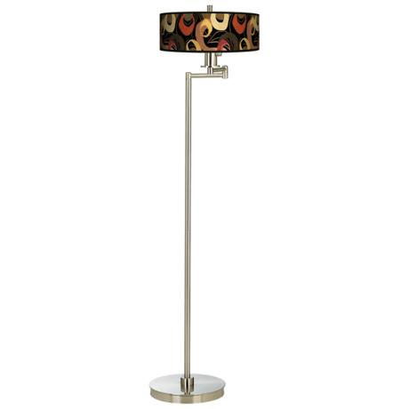 Rhythm Motif Energy Efficient Swing Arm Floor Lamp