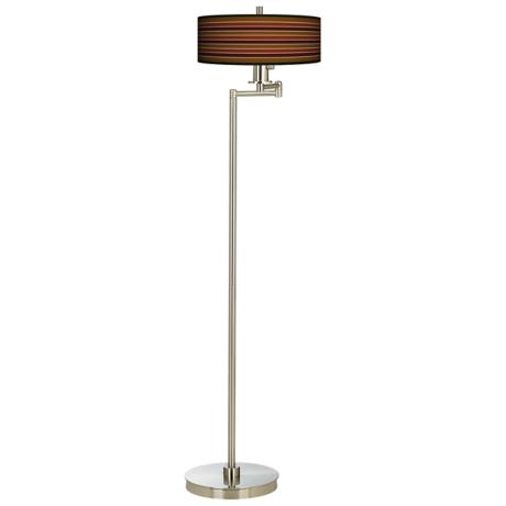Tones Of Sienna Energy Efficient Swing Arm Floor Lamp