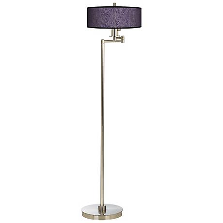 Stacy Garcia Seafan Rich Plum Energy Efficient Floor Lamp