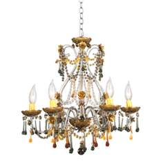 Autumn Mist Six Light Crystal Chandelier