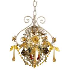 Autumn Mist Crystal Pendant Chandelier