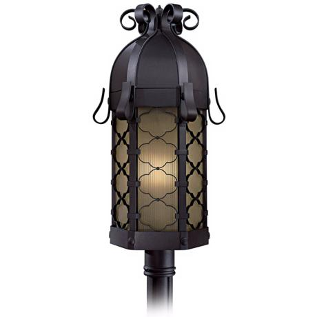 "Montalbo 28 1/4"" High Black Outdoor Post Light"