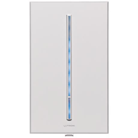 Lutron Vierti 600 Watt Blue LED Multilocation White Dimmer