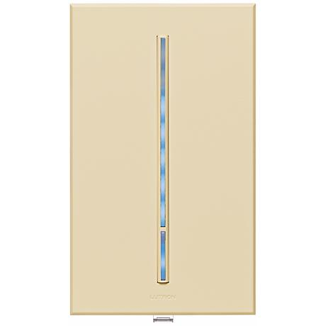 Lutron Vierti Blue LED Multilocation Light Almond Dimmer