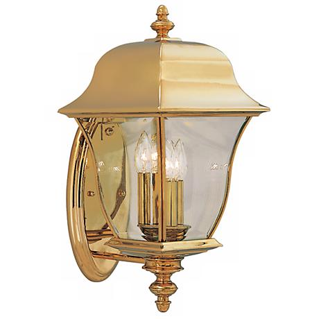 "Gladiator Collection Brass 20 1/2"" High Outdoor Lamp"