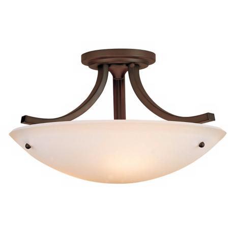 "Murray Feiss Essential Bronze 16"" Wide Ceiling Light Fixture"