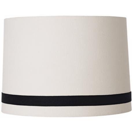 Crème with Black Trim Drum Shade 13x14x10x10 (Spider)