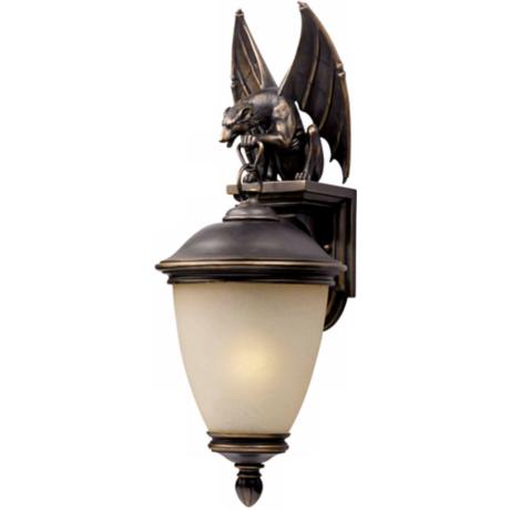 "Gargoyle Energy Efficient 33"" High Outdoor Wall Light"