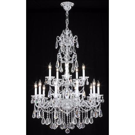 James R. Moder Redding Collection Silver 15-Light Chandelier