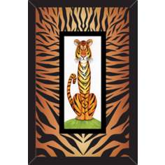 "Jungle Cats II 15 3/4"" High Wall Art"