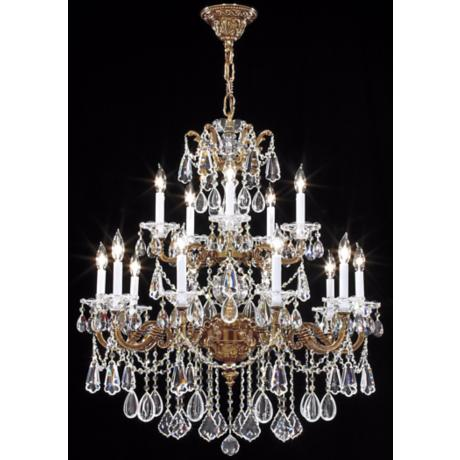 James R. Moder Redding Collection 15-Light Gold Chandelier